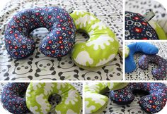 travel neck pillow for my girl (pattern: http://catherinehug.de/2010/07/ein-nackenh%C3%B6rnchen-f%C3%BCr-kinder.html)