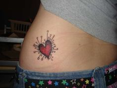 Tim Burton voodoo girl heart tattoo