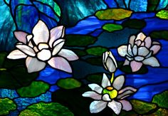 monet water lilies stained glass - Google Search