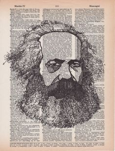 Items similar to Karl Marx portrait drawn on an aged dictionary page containing his namesake on Etsy Art And Illustration, Karl Marx Books, Cool Sketches, Sketch Art, Cultural Studies, Unusual Art, Sketch Inspiration, Art Sketchbook, Line Drawing