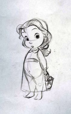 004 Little girl character sketches Test for Mercury Filmworks