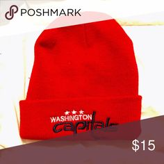 NHL Washington Capitals Beanie- Unisex🏒⛸ NHL AUTHENTIC Red Washington Capitals Hockey Beanie bought at the Capitals game. Men's hat but it can be unisex. I only wore it once to the Capitals game. Please let me know if you have any questions!! All of my prices are negotiable. Feel free to make an offer and I will give you a deal!!🌷✨ Accessories Hats