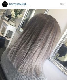 Light ash blonde ombre short hair
