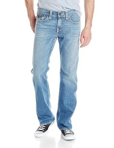 True Religion Mens Billy Super T Flap Pockets Bootcut Jean Size 42 Four Rive NWT #TrueReligion #BootCut