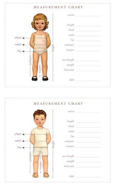 wallet-sized measurement chart. perfect.