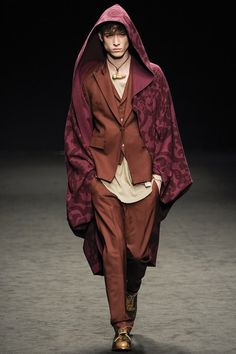 London fashion week  Vivienne Westwood winter- autumn collection  Men - menswear - fashion - trends - runway - Lfw - style - homme - couture - moda - masculina - men's - fashionista - trending - black - white - shoes - coat - brown - blue - Boots - red -