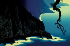 Big Sur, 1991    Artist: Eyvind Earle, United States      Style: Magic Realism