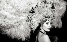 photographer: Giuliano Bekor   black and white, old school Las Vegas, showgirls