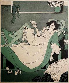 Woman Reading c.1912, by Karl Alexander Wilke