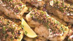 MKR4 Recipe - Middle Eastern Threadfin Salmon with Eggplant Salad (Ashlee & Sophia)