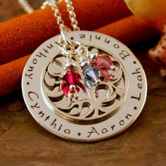 Hand Stamped Mommy Jewelry  Personalized Family by IntentionallyMe, $90.00