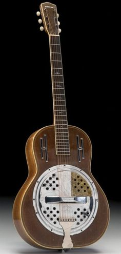 Schireson Bros Hollywood Resonator Guitar (Now this is a rare Guitar because National Dobro sued them for patent infringement and won) --- https://www.pinterest.com/lardyfatboy/