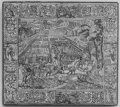 Garden and Hunting Scene, Unidentified Weaver's Mark, Wool, silk (16-19 warps per inch, 7 per cm.), Flemish