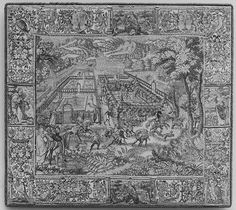 Garden and Hunting Scene
