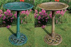 Take a look a 10 photos antique bird bath for backyard decoration : Pedestal Bird Bath. Modern Bird Feeders, Bird Bath Fountain, Bird Cages, Pedestal, Backyard, Antiques, Garden, Outdoor Decor, Home Decor