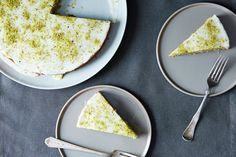 Pistachio Cake with Lemon and Rose Water Recipe