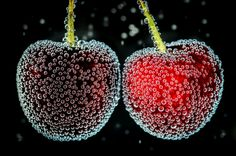 Cherries in water - Beauty in the Details  IMAGES, GIF, ANIMATED GIF, WALLPAPER, STICKER FOR WHATSAPP & FACEBOOK