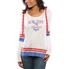 b7fd22b60 NHL New York Rangers Women s Base Runner Tri-Blend Long Sleeve T-Shirtundefined  Women s