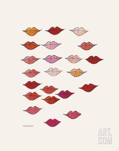 Stamped Lips, c. 1959 Art Print by Andy Warhol at Art.co.uk
