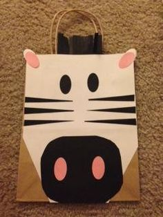 Zebra Party bag on Etsy, $2.80
