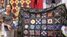 I saw this lady and her quilt top at PIQF, Oct. 2010. She brought it in to show Cherrywood the quilt she made.  It was GORGEOUS in person.