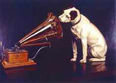 British artist Francis James Barraud (1856-1924) painted his brother's dog Nipper listening to the horn of an early phonograph during the winter of 1898. Victor Talking Machine Company began using the symbol in 1900, and Nipper joined the RCA family in 1929.