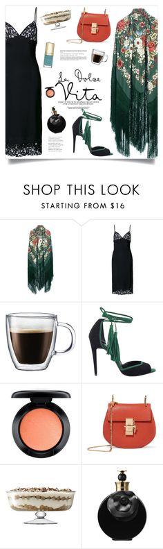 """Still ... La Dolce Vita ..."" by marina-volaric ❤ liked on Polyvore featuring DressedUndressed, Bodum, Pierre Hardy, MAC Cosmetics, Chloé, LSA International, Valentino and Dolce&Gabbana"