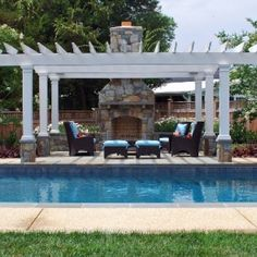 Swimming Pool and Outdoor Kitchen Project in Potomac MD