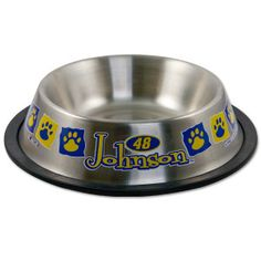 Jimmie Johnson No. 48 32oz. Stainless Steel Pet Bowl. Purchase at www.HendrickMotorsports.com Team Store! #pets #dogs #fans #furryfans