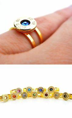 Bullet Birthstone Ring <3