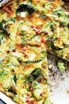 This quick and easy 30-minute frittata recipe incorporates brussels sprouts, bacon and gruyere cheese to create the ultimate comfort food meets breakfast recipe. Whether you're looking to eat this brussels sprouts recipe on its own or alongside toast, bacon or sausage, it's a great choice for a brunch recipe.#comfortfood #brunchrecipes #breakfastrecipes #frittatarecipes #eggrecipes Best Brunch Recipes, Breakfast Recipes, Frittata Recipes, Gruyere Cheese, Egg Recipes, Vegetable Pizza, Sprouts, Bacon, Meals
