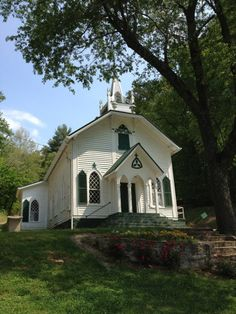 ~ I love a the charm of a White country Church ~ this Baptist church is so sweet and pretty ~ located in Georgia, between Clarksville and Helen, on Highway 17, in the northern part of the state ~