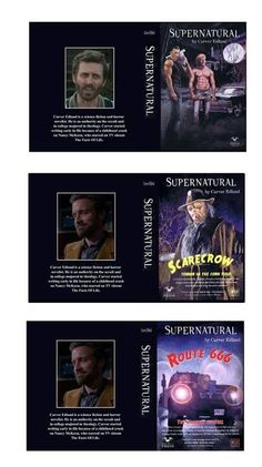 G scale model Supernatural Carver Edlund resin books etsy ThreeInchesUnder College Majors, Supernatural Art, Scale Models, Destiel, Superwholock, Writing A Book, Science Fiction, Author, Reading