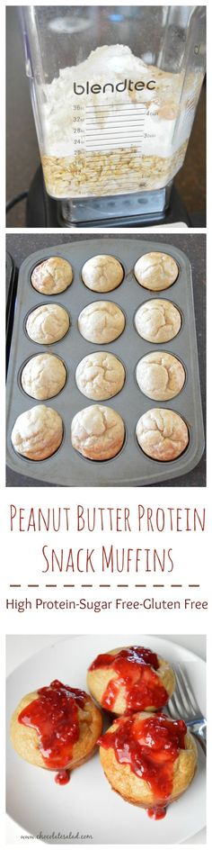 These big muffins are only 83 calories each and high in protein!  I eat 3 for a healthy snack with a great macro nutrient balance. On chocolatesalad.com