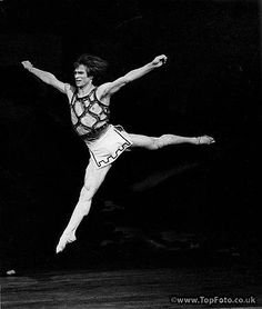 "Rudolf Nureyev in ""Prodigal Son""  Choreography by George Ballanchine with the Royal Ballet. 1973"