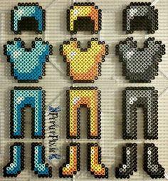 Minecraft Armor perler beads by PerlerPixie