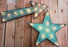 24 Star Vintage Marquee Lighted Wood. $69.90, via Etsy.