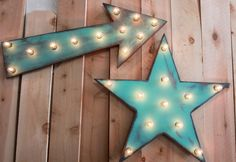 24 Star Vintage Marquee Lighted Wood by JunkArtGypsyz on Etsy