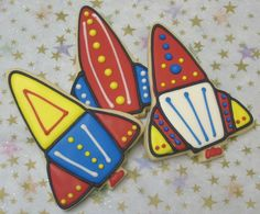 Rocket Ship Decorated Cookie Favors   Rocket Ship by lorisplace, $35.99  Way better than the rocket ships I made :P