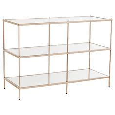 Benton Console Table - Metallic gold - Southern Enterprise : Target