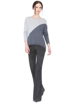 dove grey and charcoal abbie pullover