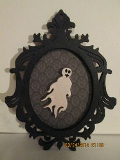 Silhouette Portrait Ghost Wall Hanging Plaque Decoration (plaque holder not included) by PXWoodNJoys on Etsy