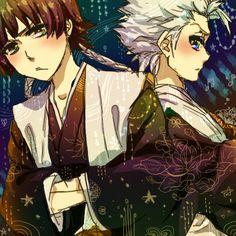 Toushirou Hitsugaya with Soi Fon.  Who's grumpier?