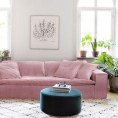 Luca Dusty Pink 4 seat velvet sofa