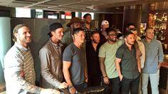 Group photo before Danny Amendola's CatchesForKids  Celebrity Waiter Night
