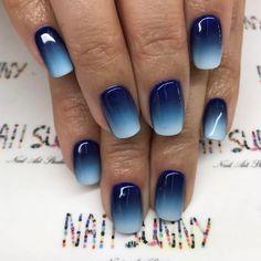 Ombré nails / blue / sky blue / white – master Luda, Kievskaya … – My CMS Aumbre Nails, Chic Nails, Trendy Nails, Blue And White Nails, Blue Ombre Nails, White Ombre, Nagel Hacks, Ombre Nail Designs, Dipped Nails