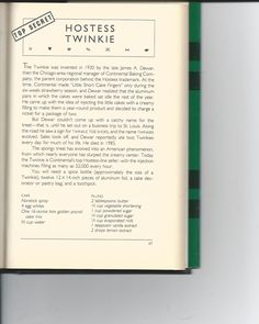 Twinkie recipe gonna have to make these !!!