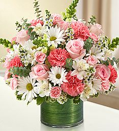 Make an elegant gesture of condolences with a beautiful, hand-crafted arrangement of pink roses and carnations, gathered with white snapdragons, alstroemeria and daisy poms. A memorable way to remember loved ones during times of sorrow. - See more at: htt Funeral Flower Arrangements, Beautiful Flower Arrangements, Funeral Flowers, Floral Arrangements, All Flowers, Amazing Flowers, Beautiful Flowers, Wedding Flowers, Gerbera Wedding