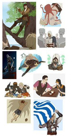 "Fun times in the Caribbean. ""AC4 dump"" by doubleleaf on DeviantArt.com."