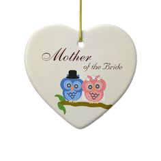 Mother Of The Bride Owl Ornament #weddings #mother